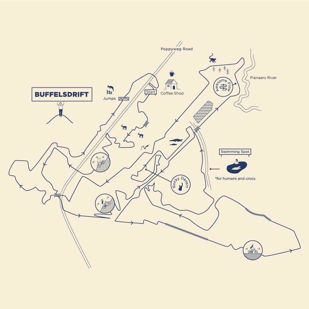 buffelsdrift-trail-map