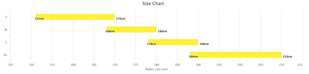 commencal clash size chart
