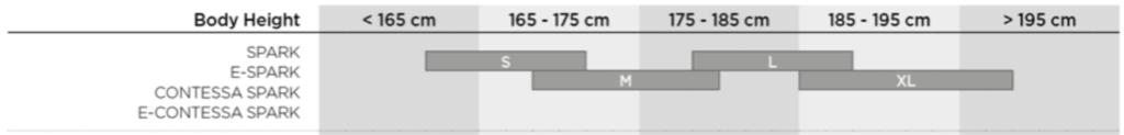 scott spark size chart