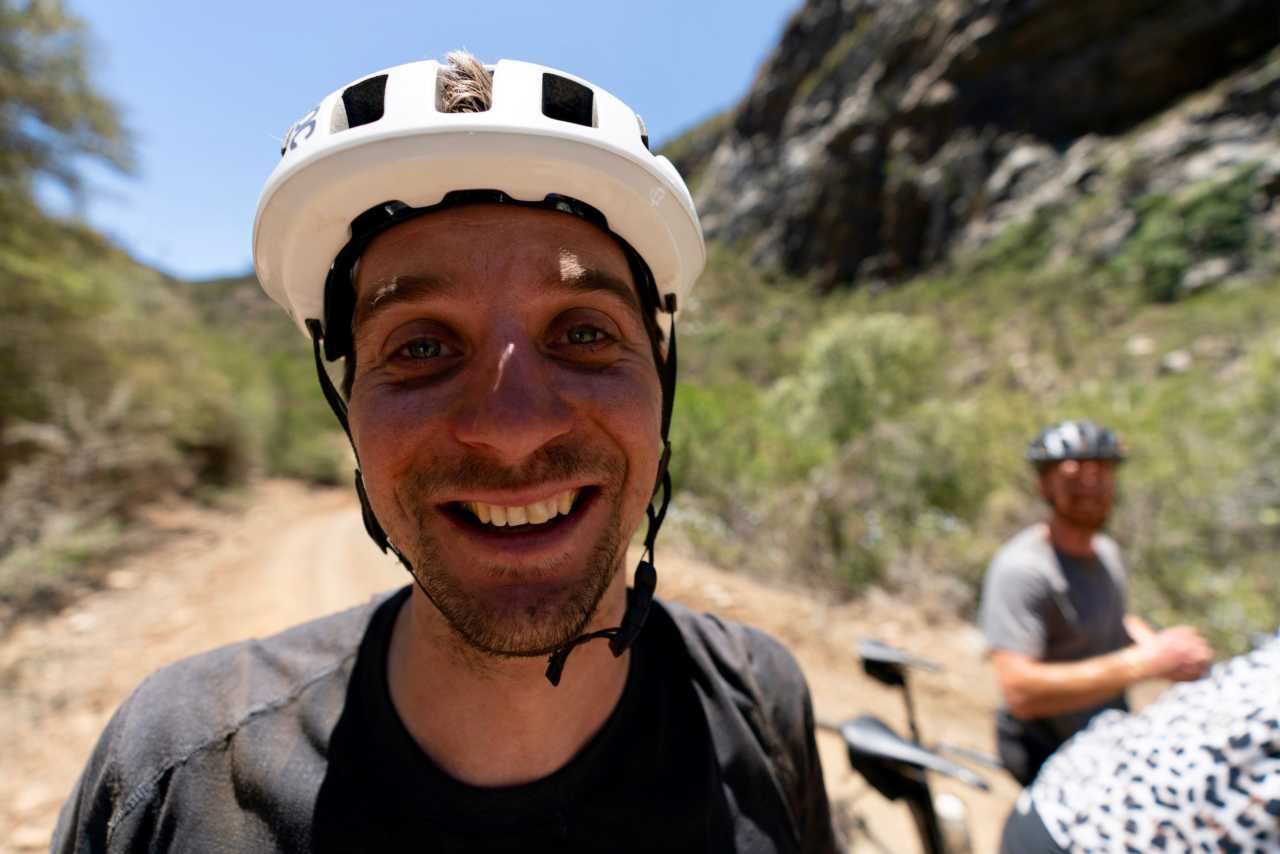 happy gravel rider